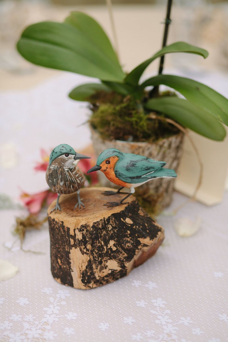 bird wedding table decorations