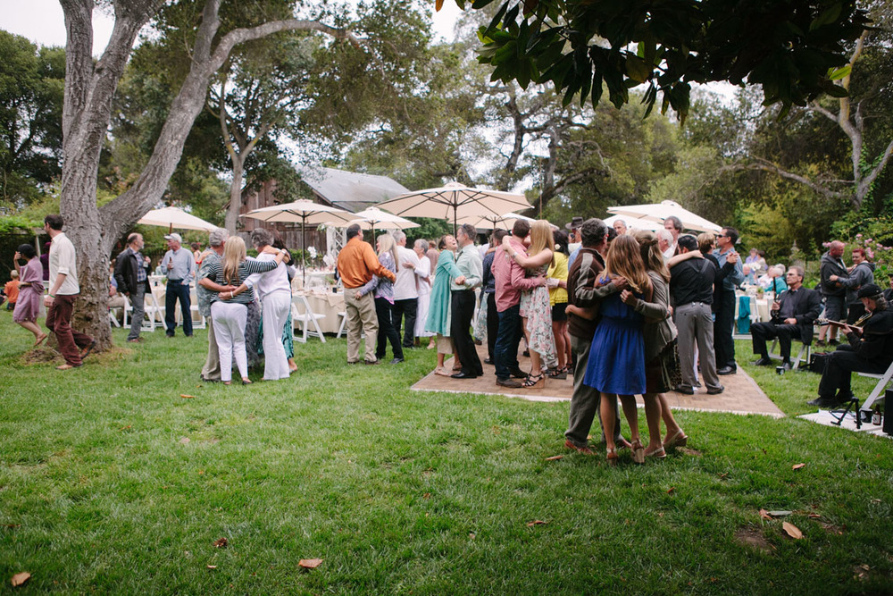 backyard wedding party