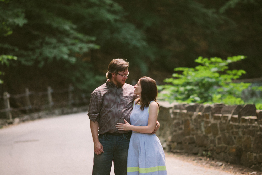 outdoor engagement shoot