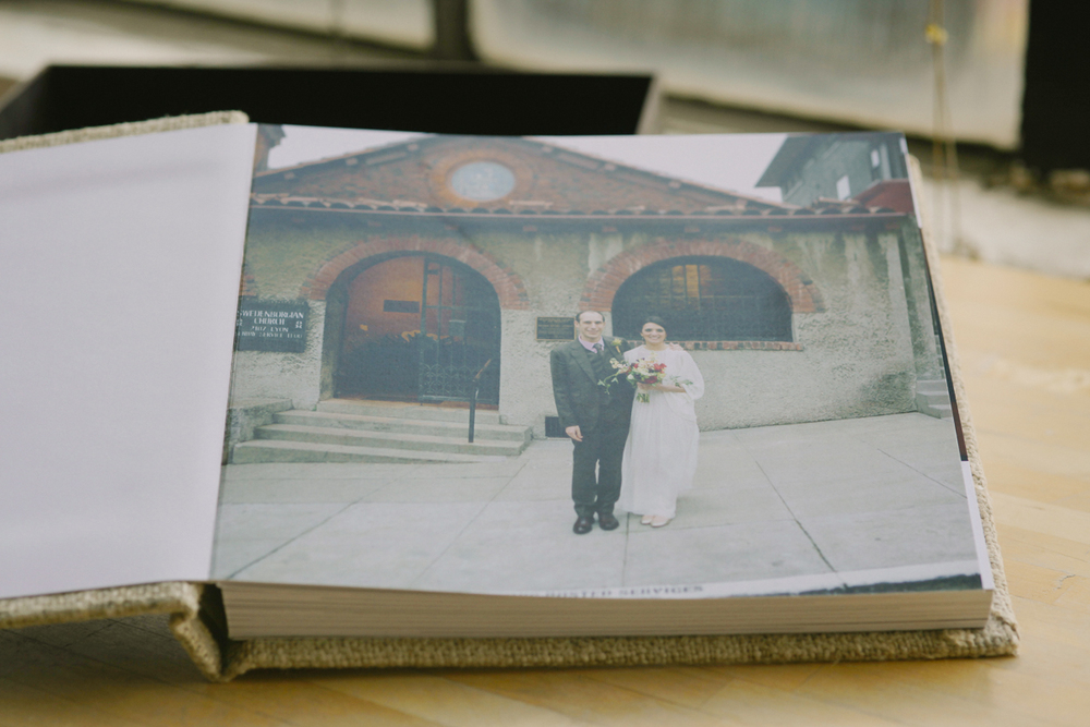 eco friendly wedding album