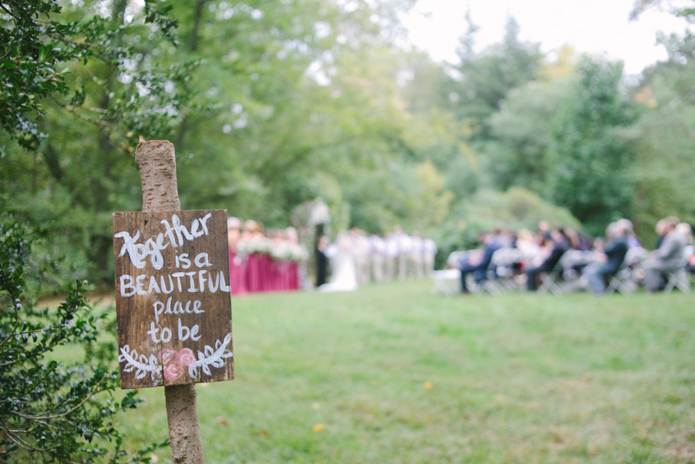 wedding ceremony sign diy