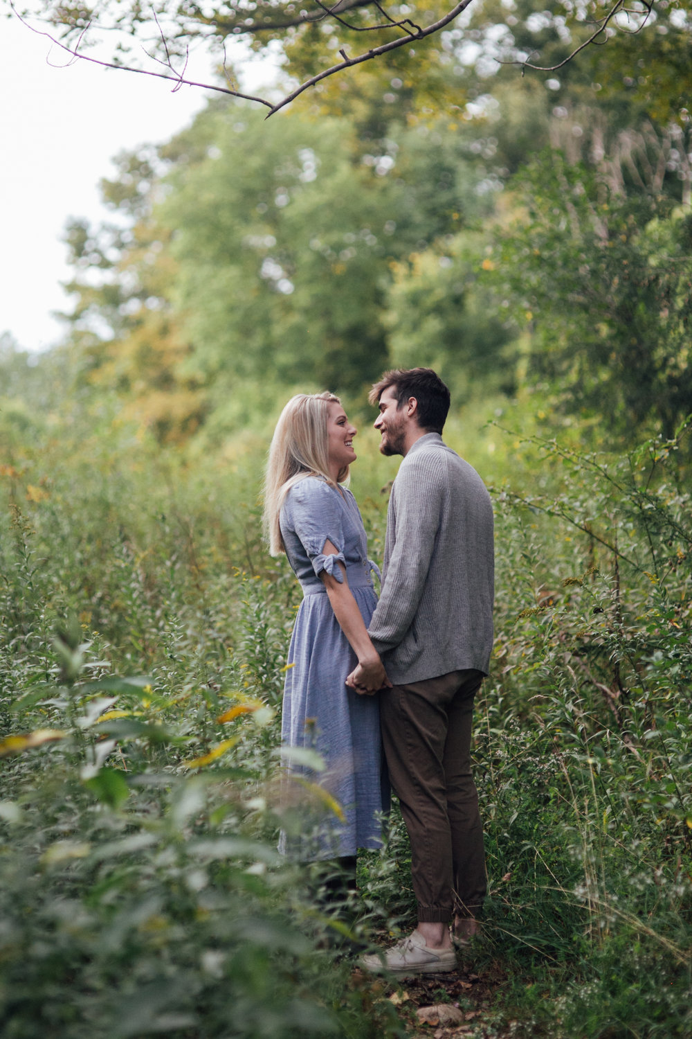 Field Vermont engagement shoot