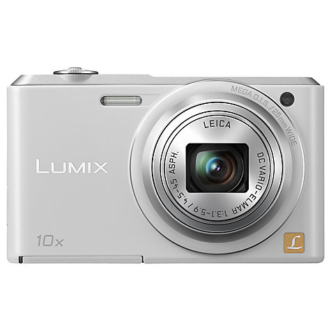 "Panasonic Lumix DMC-SZ3 Digital Camera, HD 720p, 16.1MP, 10x Optical Zoom, 2.7"" LCD Screen, White"