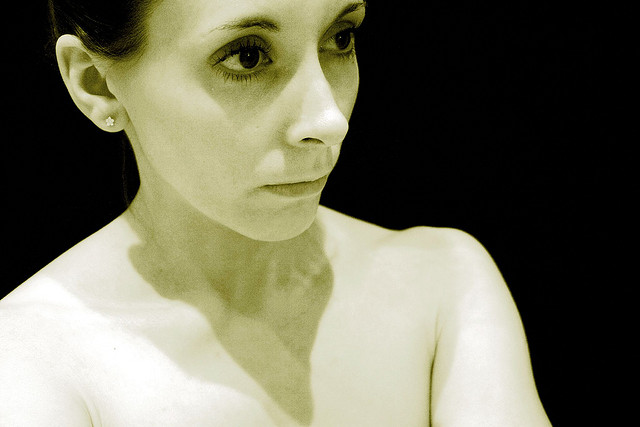 Self-portrait - taken for an exhibition on eating disorders.