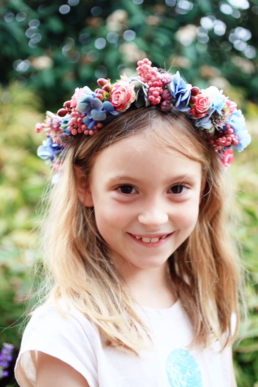 Makelight imagine how excited my little girl was this morning when she came downstairs to find a floral crown for her to wear before school izmirmasajfo Gallery