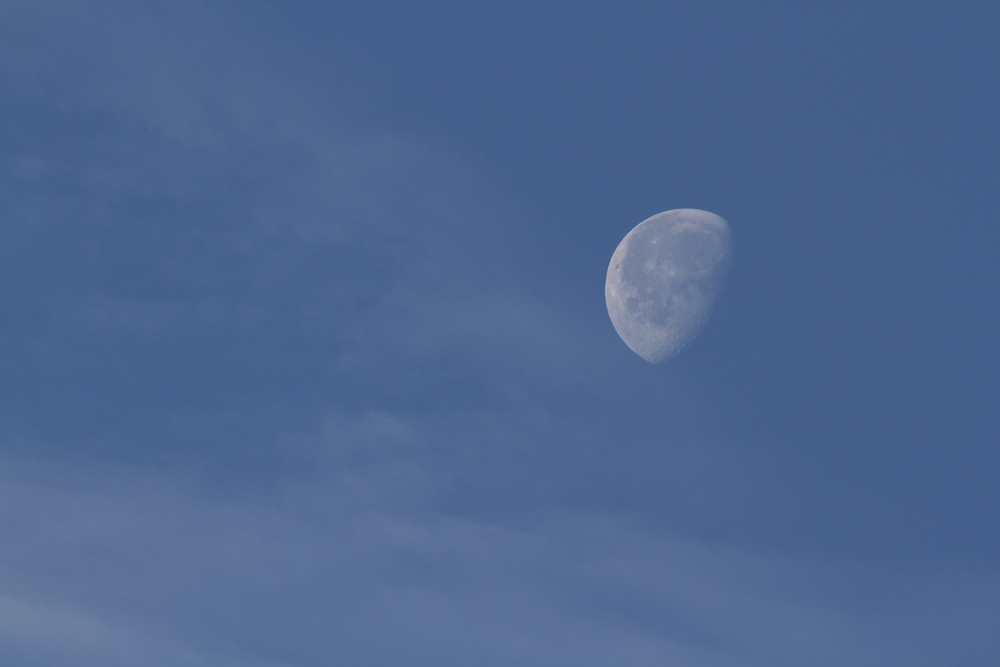 Half moon on a blue sky!