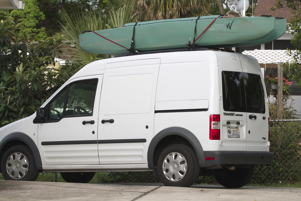 My Wavewalk Kayak is loaded for my first test drive Beyond the Broward. It travels well on the Transit.