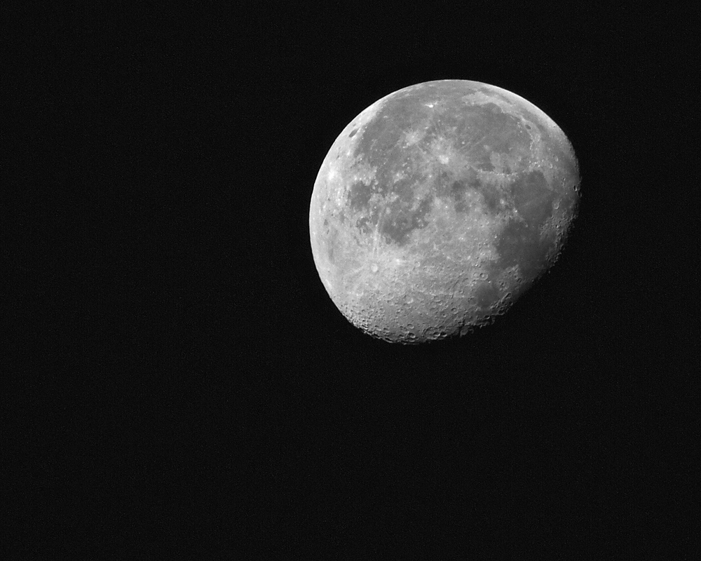Waning Moon shines in Black and White! Seems clear to me..