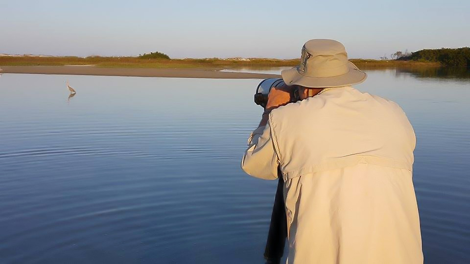 "On day one of the ""Boot Camp"" we found a Reddish Egret,  Photo of me by and with permission of Maxis Gamez"