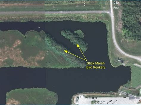 "T M Godwin ""Stick Marsh"" areal view showing two Islands used for the rookery..Near Felsmere Florida"