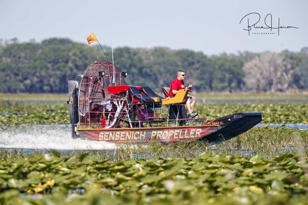 It was difficult to hear at times with all the airboats on the lake