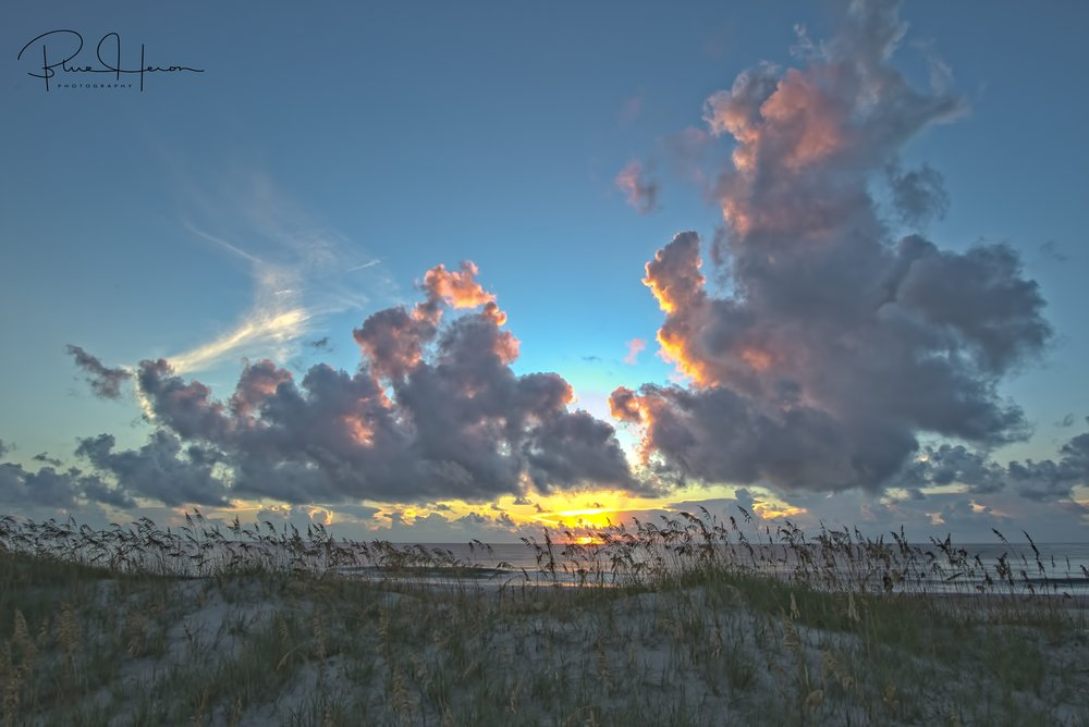 Sea Oat Sunrise captured at 10 mm, a bit wider view using in camera HDR..which do you prefer?