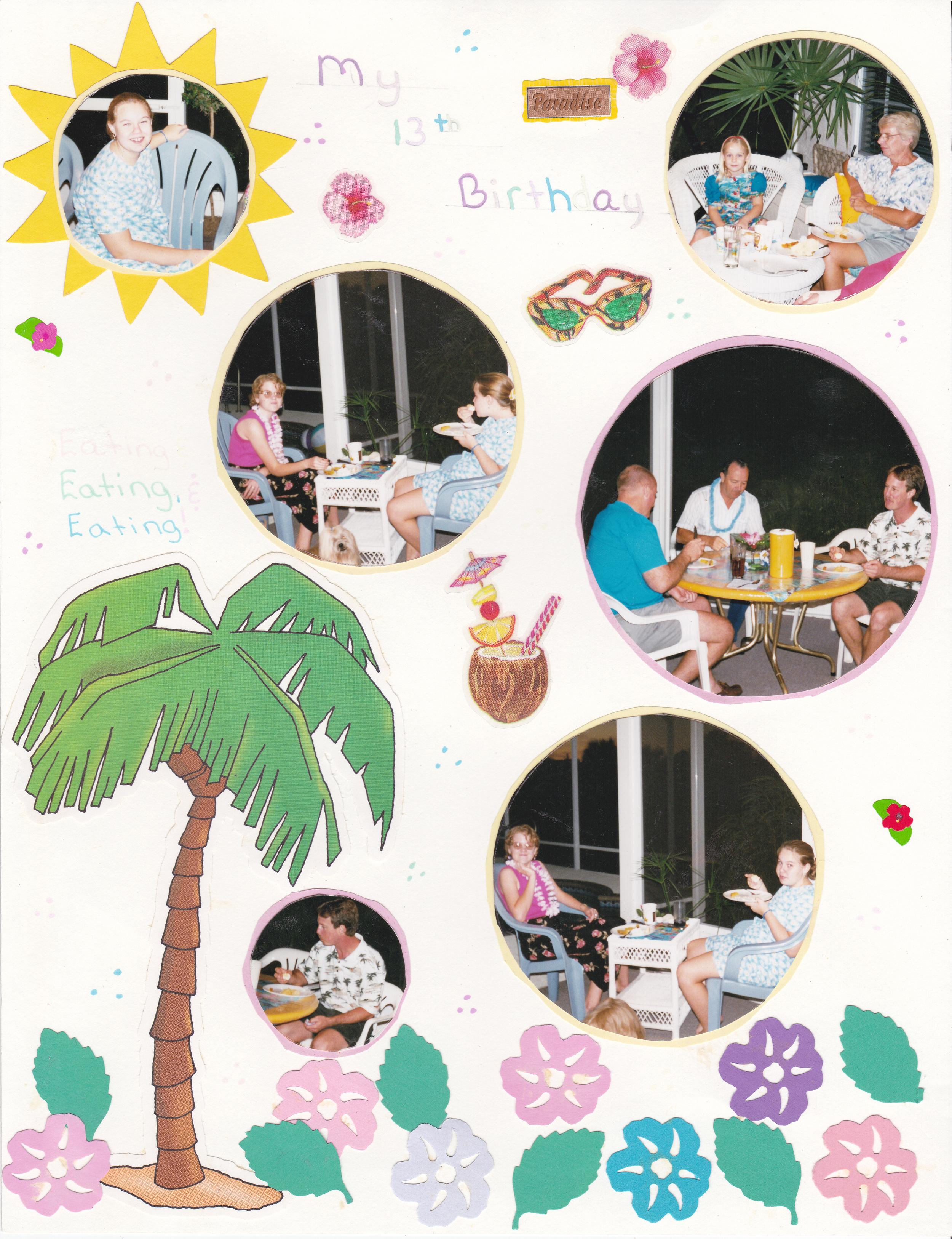 A 8.5 x11 Scrapbook page circa 1999