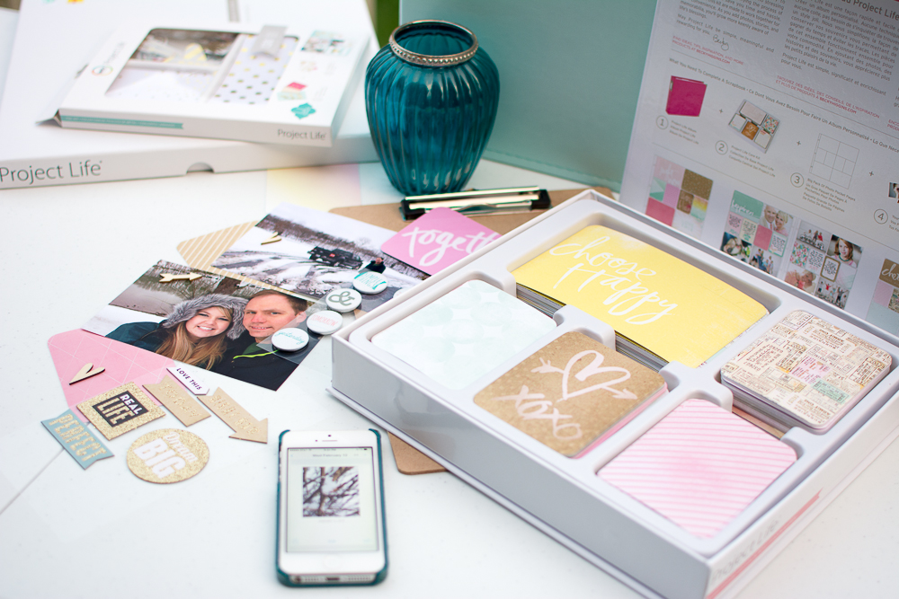 Heidi Swapp Edition Project Life Core Kit - Dreamy and some embellishments from MAMBI and Studio Calico