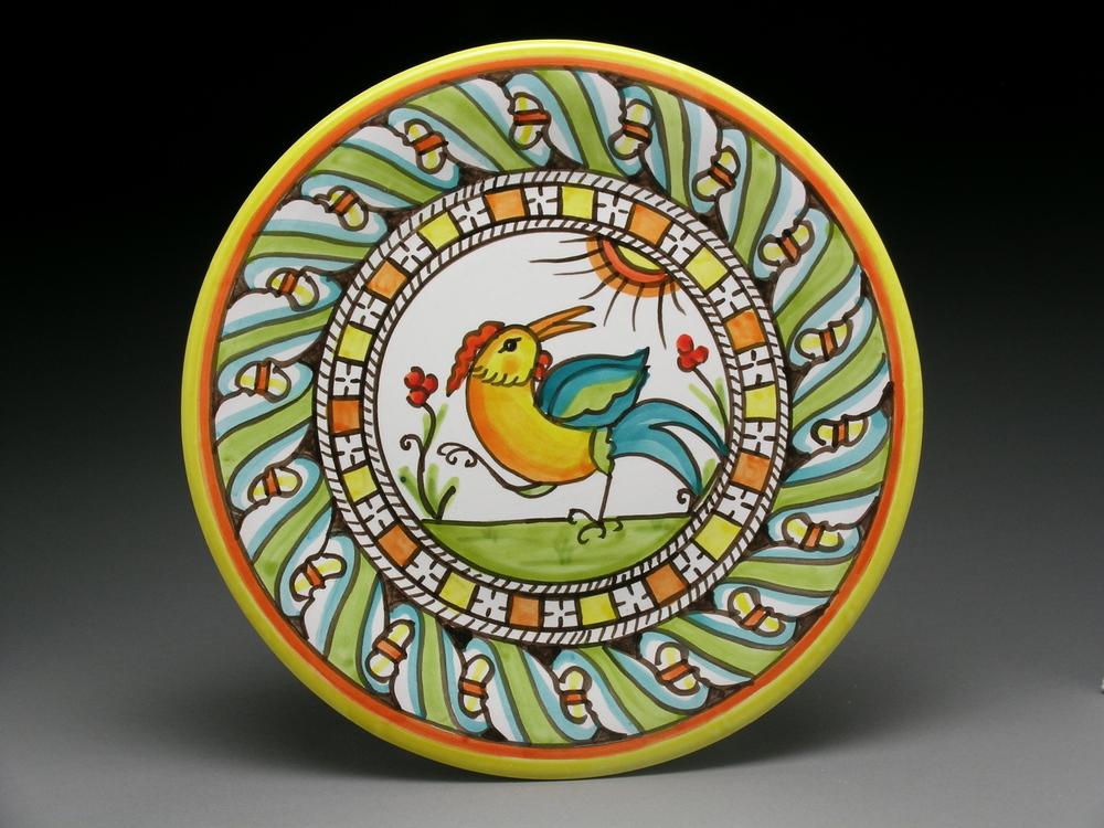 "Small Sun Bird Plate 8"""