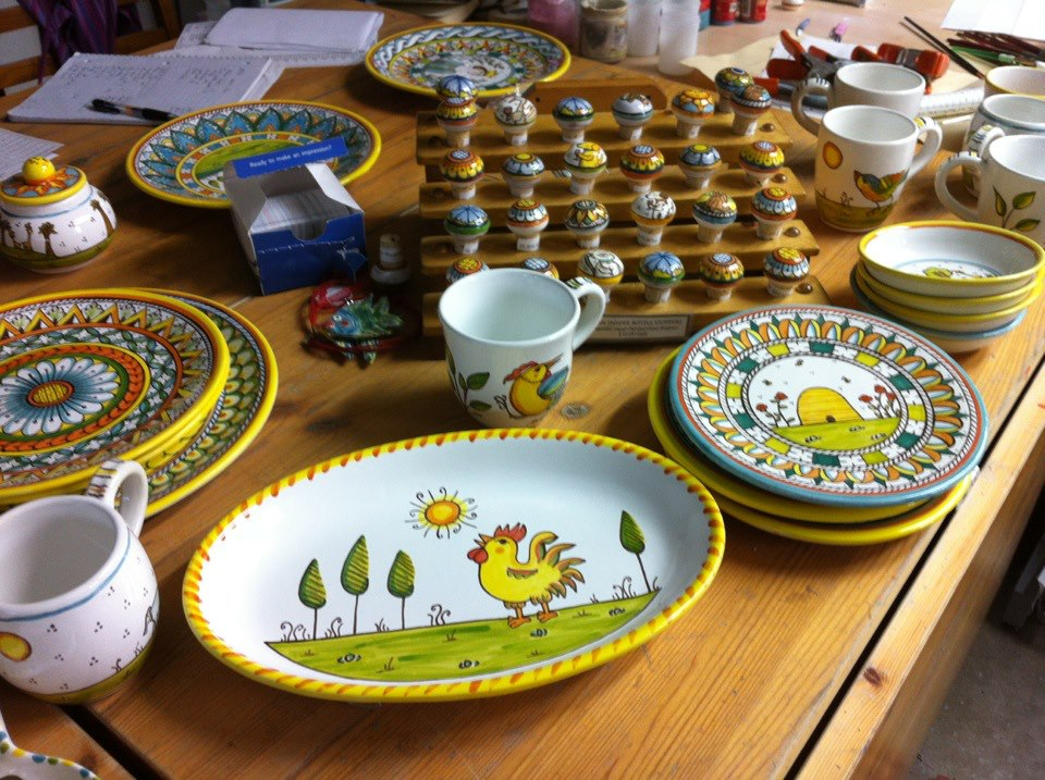 Plates shown are just a small sample of what is possible. Wine tops are $12 each, oval platters $65.