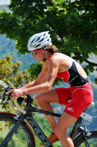Tamsin Lewis Alpe Climb in the saddle 2012 Aug.jpg
