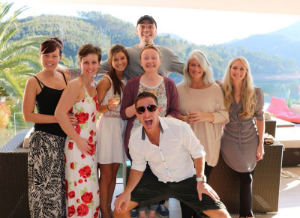 "Working with the 'Juice Master"" Jason Vale & team at his Juicy Oasis Retreat & Spa, Portugal, in 2013."