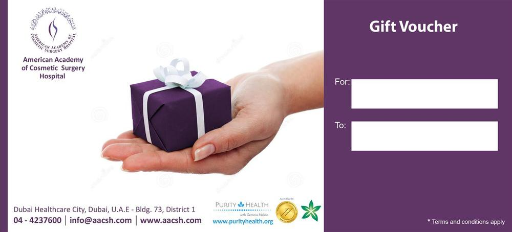 Gift Vouchers for holistic treatments (colonic, lymphatic drainage, reflexology) at the AACSH Dubai - give the gift of health this festive season - purityhealth.org
