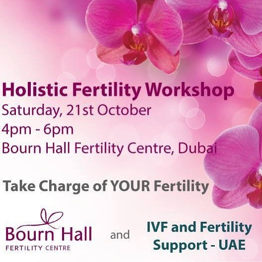 Struggling with fertility issues? How can holistic therapies help you?  Join me, as I'll be speaking at the Holistic Workshop at Bourn Hall Fertility Centre Dubai this Saturday.  Date: Saturday 21st October Time: 4pm – 6pm  4:00pm – 4:10pm: Welcome & Introduction by Cassie Destino 4:10pm – 4:30pm: Fertility Journey Counseling by Priyanka Bhatia, Bourn Hall 4:30pm – 4:40pm: #Nutrition and Fertility by Nutritionist at DHTC 4:40pm – 4:50pm: Fertility #Reflexology by Gemma Nelson, Reflexologist AACSHospital 4:50pm – 5:00pm: #Hypno Fertility by Jasmine Collin, Clinical Hypnotherapist  10 minute break 5:10 – 5:30pm: #Acupuncture and Integrative Medicine in Fertility, by Dr. Faryal and Steven Josephs, Chiron Clinic 5:30 – 5:50pm: Restorative #Yoga for Fertility & relaxation demo by Mia and Kate, YogaBellas 5:50pm – 6pm: General Q&A and chat  Please RSVP to info@bournhall-clinic.ae to reserve your space.  Husbands are welcome.  Refreshments will be served. 💖See you there 💖 #fertilitydubai #ttcdubai #ivfdubai #holistictherapiesforfertility #supportingfertilitynaturally