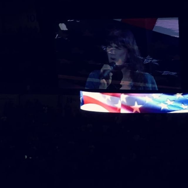 Thank you @sdgullsahl for having me sing for Opening Night! 🇺🇸