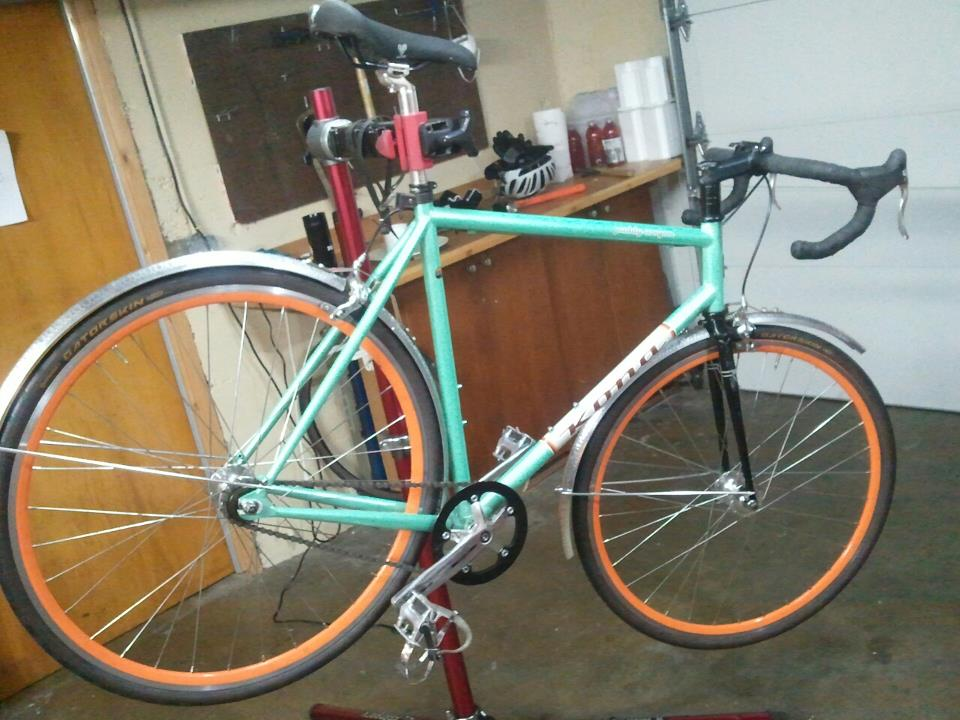 A beautiful custom fender job for a beautiful bicycle.