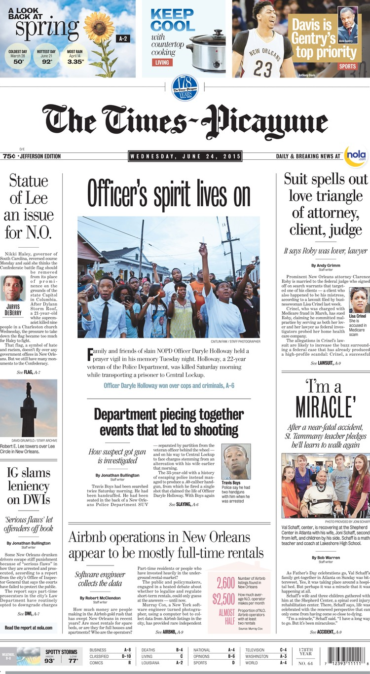 The Times-Picayune   Wednesday, June 24, 2015