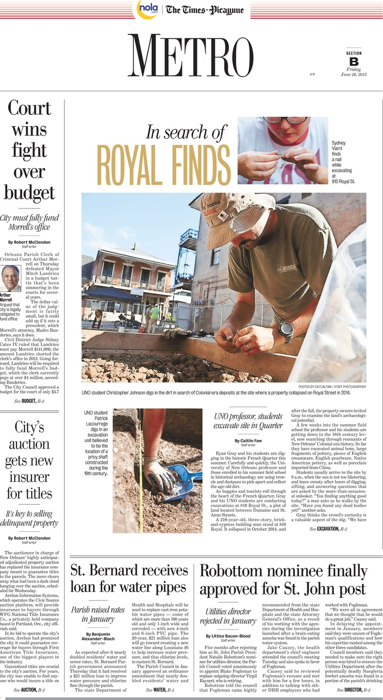 The Times-Picayune   Friday, June 26, 2015
