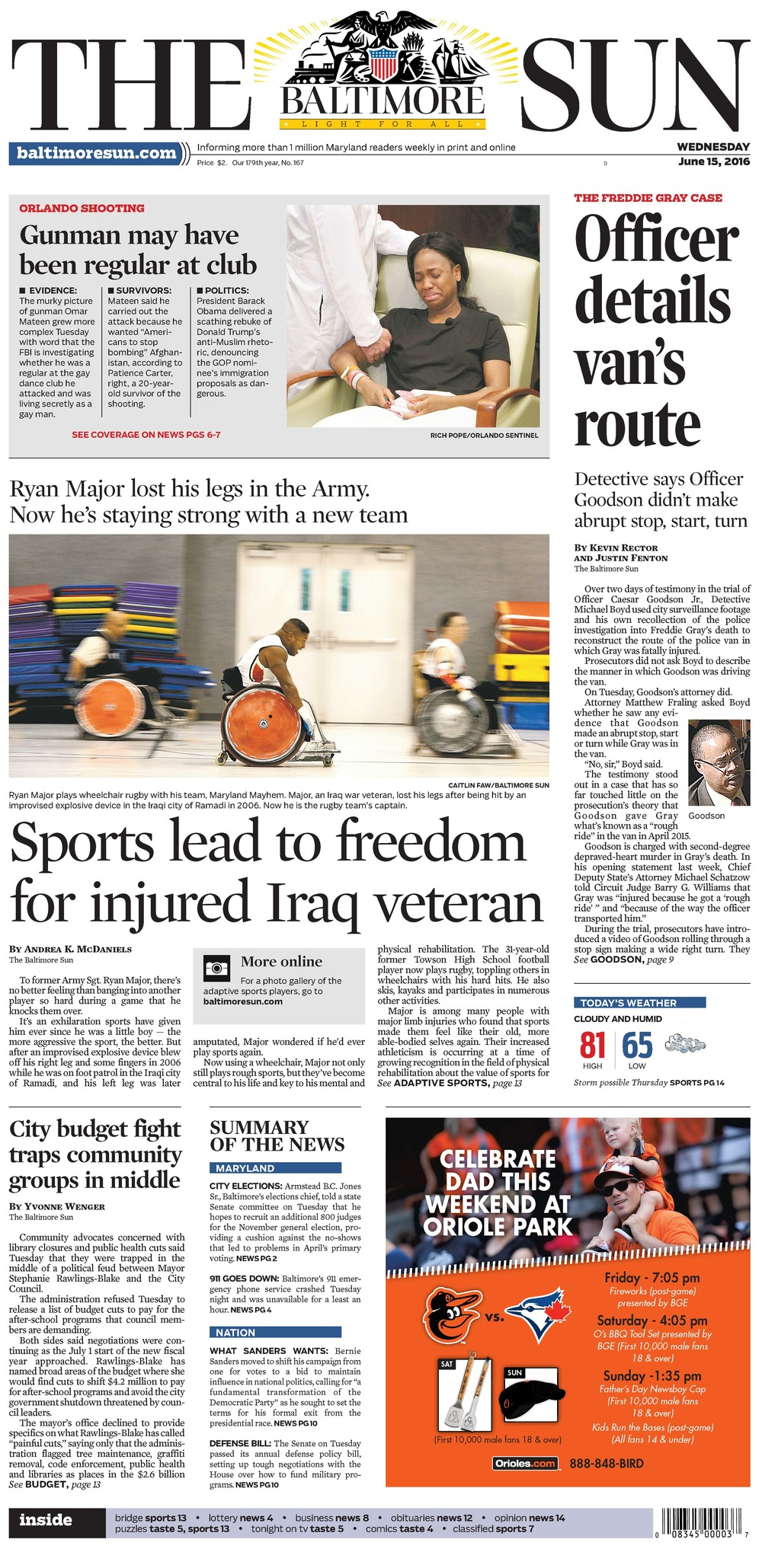 The Baltimore Sun   Wednesday, June 15, 2016