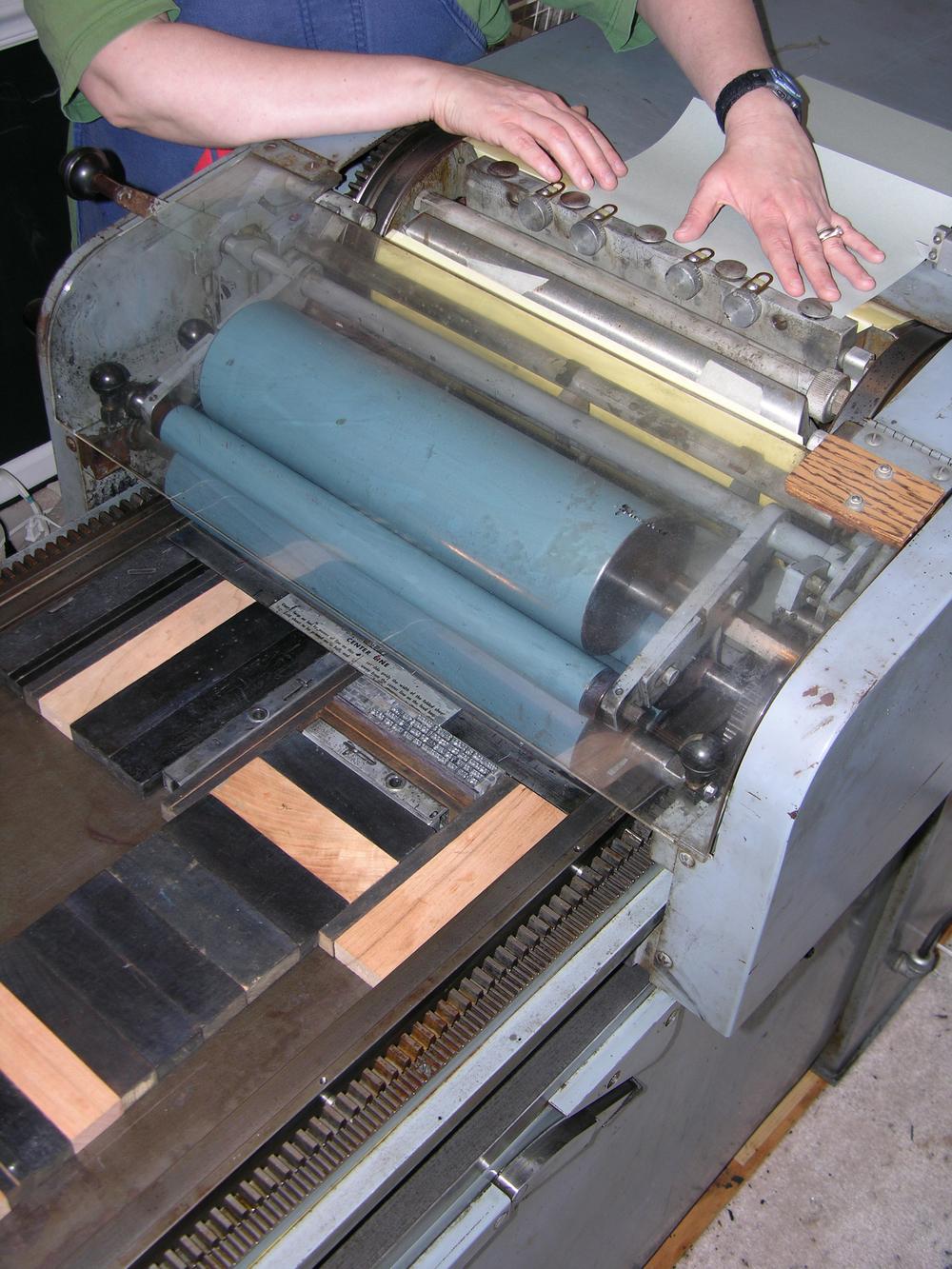 Process Letterpress Crooked Letter Press