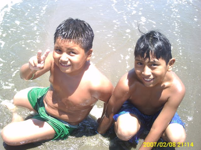 The kid on the right is Fernando...11 years old and has lived in the orphanage for 6 years.