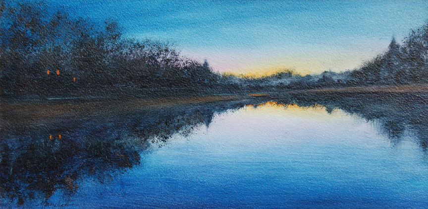 Twilight River   8 x 16