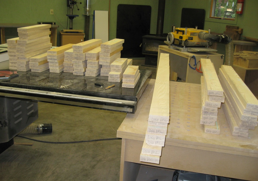 Takes a lot of pieces and parts to construct the frame and panel storage benches.