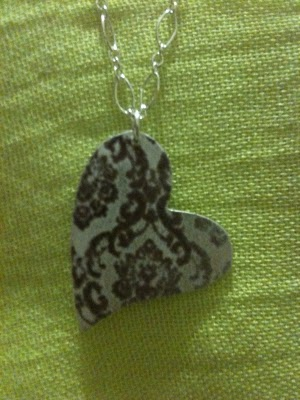 sterling silver enamel necklace