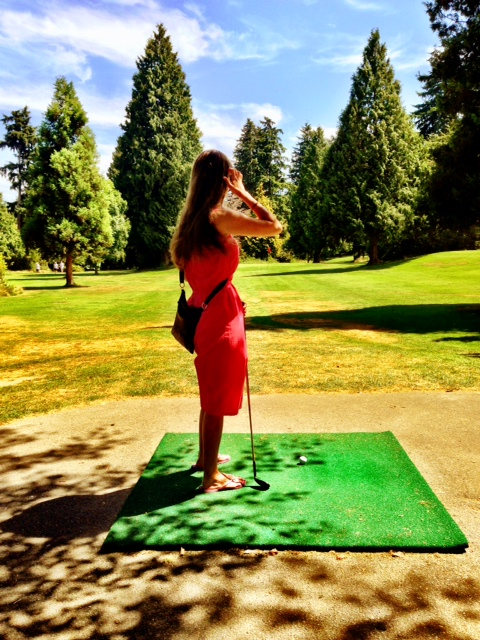 Pitch & Putt in Stanley Park. (I won)