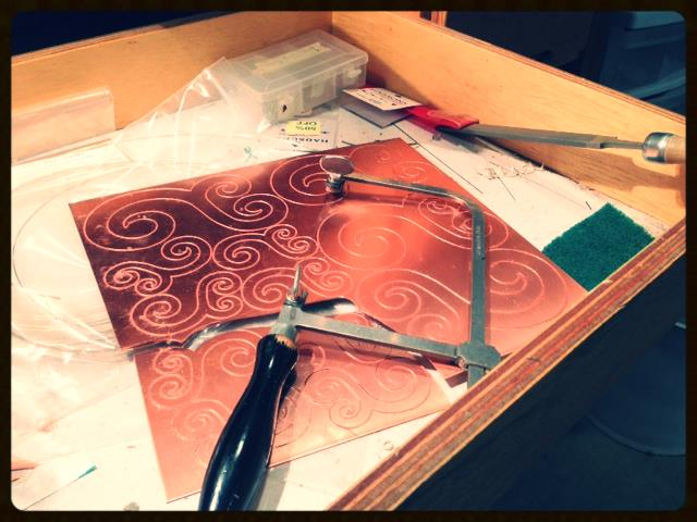 We spent a couple of days in the studio on a sawing and filing marathon...