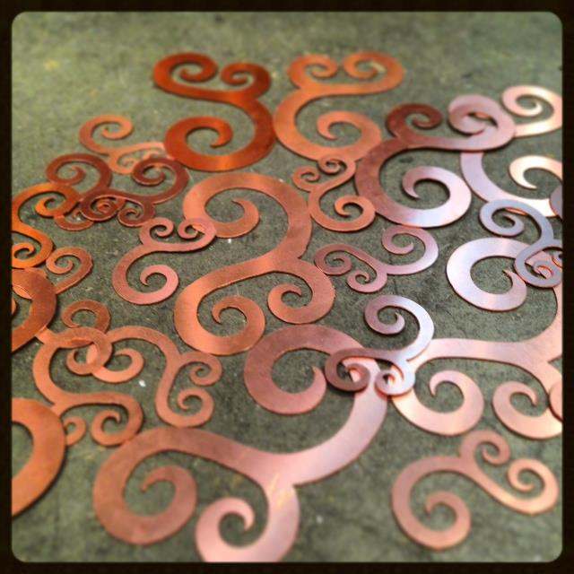 How much fun are these swirly shapes?! I can't wait to show you what we've done with them.