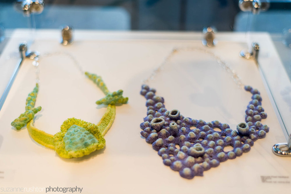 Necklaces by Nell Burns.