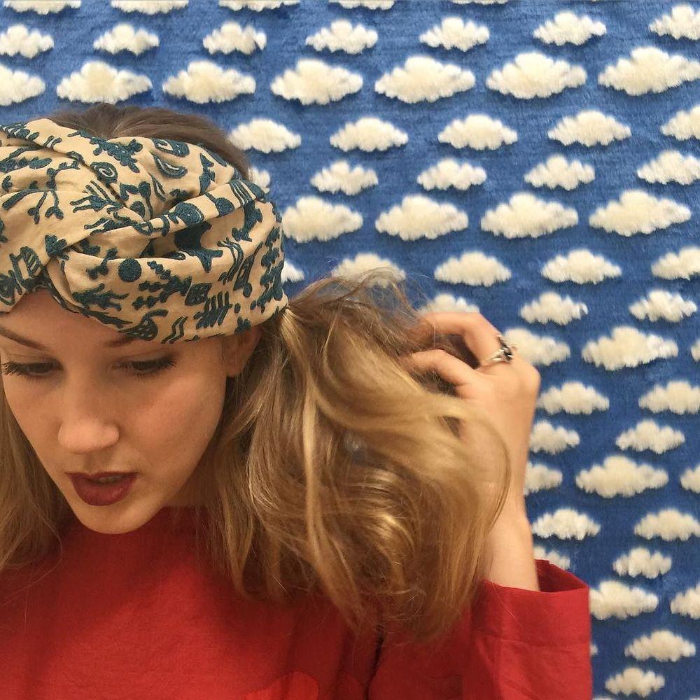 hand-embroidered khadi headbands #cistantheshop