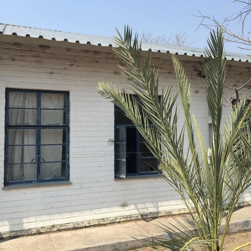 the town church in Tsumkwe, Namibia