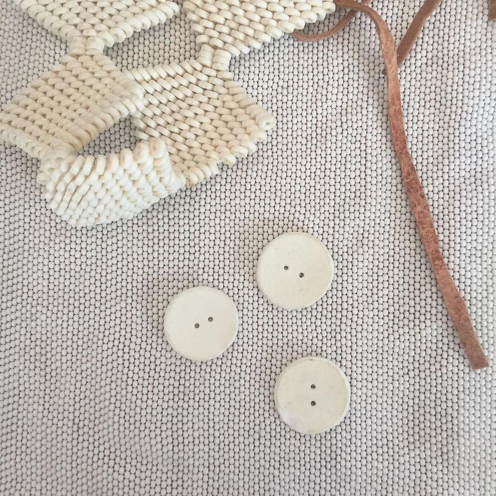 ostrich eggshell beads on glass beads in Tsumkwe