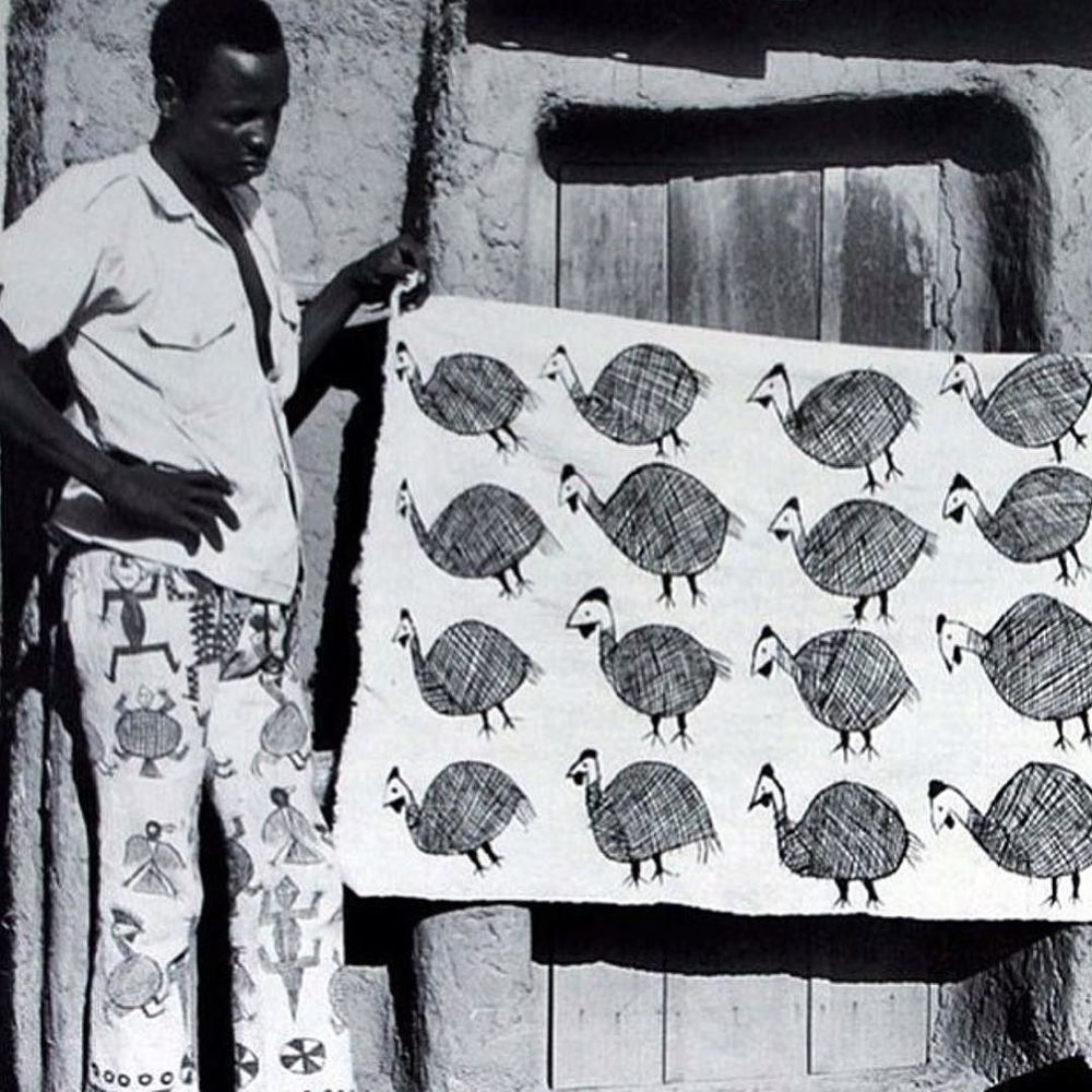 Senufo textile in Korhogo, Ivory Coast #renegardi