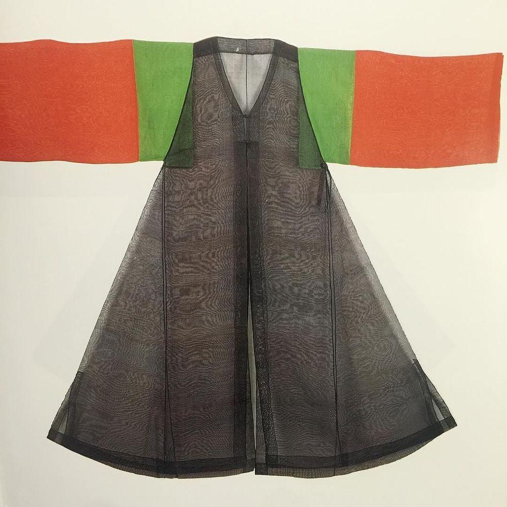 19th century Korean mubok (shaman's robe + vest) 💥