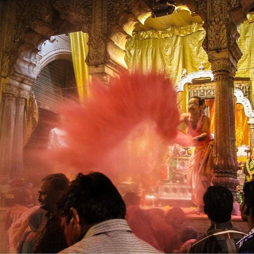 Holi colors in Vrindavan