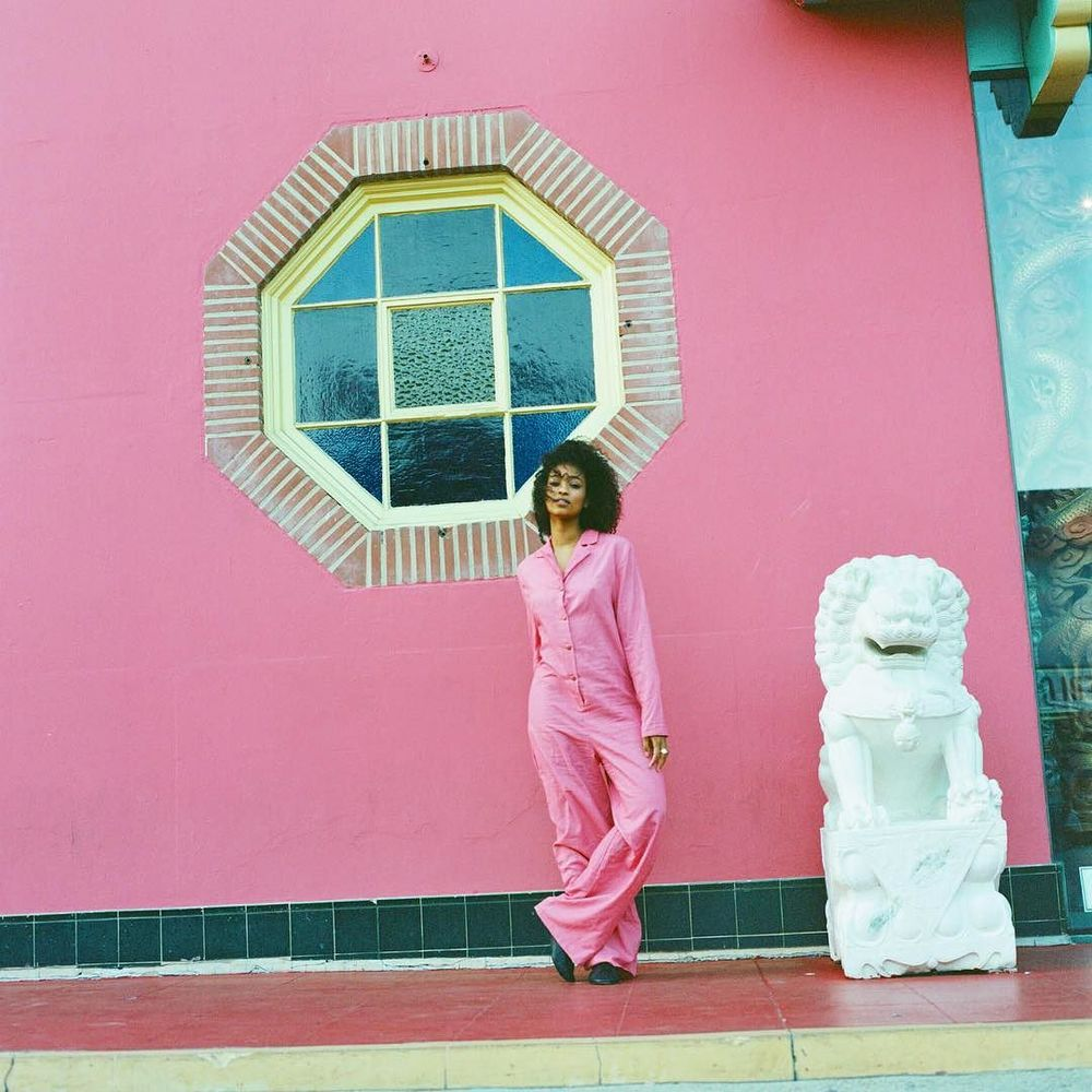 Chinatown + pink khadi