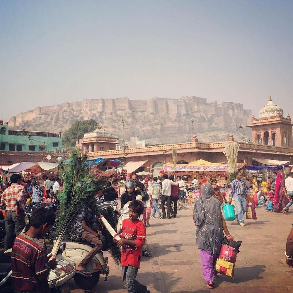 summer in the Jodhpur market