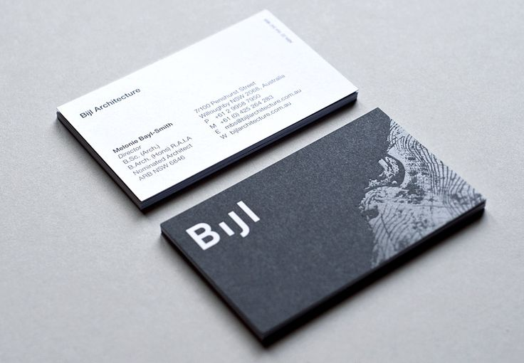 The final product - business cards designed by Toko.