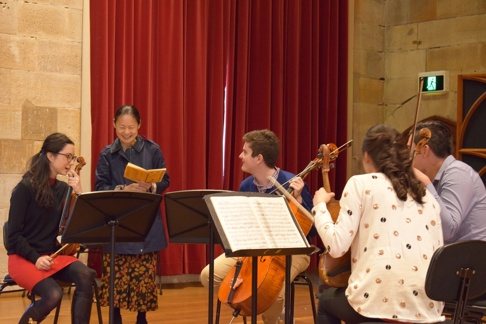 Midori gives a Masterclass to Sydney Youth Orchestra students
