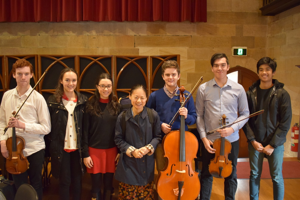 Midori with Sydney Youth Orchestra Masterclass students
