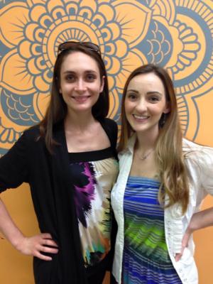 Birthmarks Hypnobirthing instructor, Keegan Barkley, and Sarah Rocrou, owner